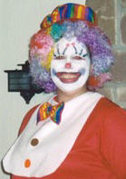 Patty as a clown